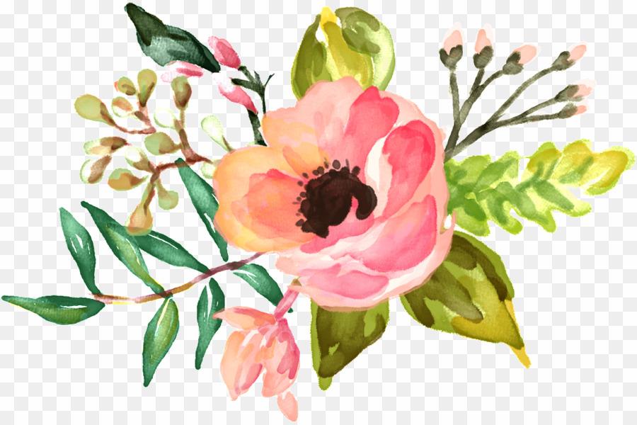 Floral Desktop Backgrounds Watercolor Png Watercolor - Invitaciones Para Fiesta De Señoras - HD Wallpaper
