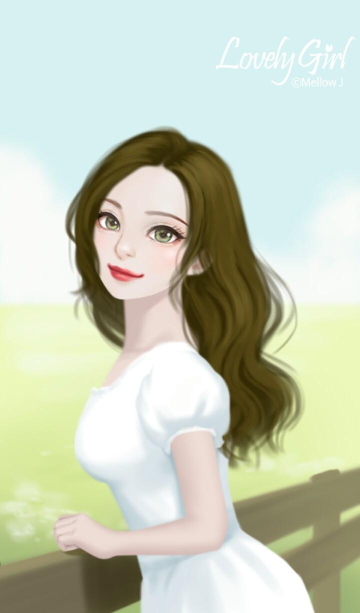Enakei Image - Lovely Gambar Kartun Girl - HD Wallpaper