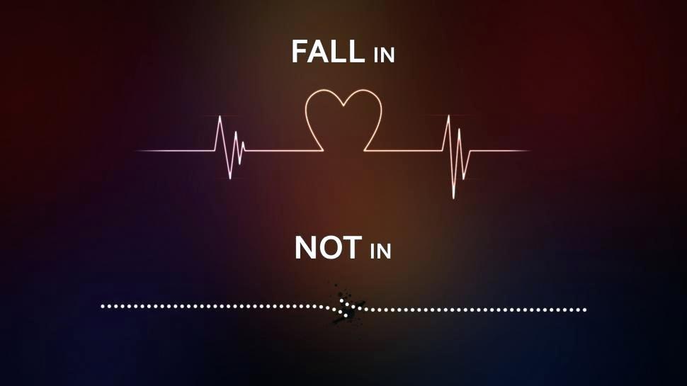 Line Wallpaper Heart Line Love Wallpaper Life Line - Fall In Love - HD Wallpaper