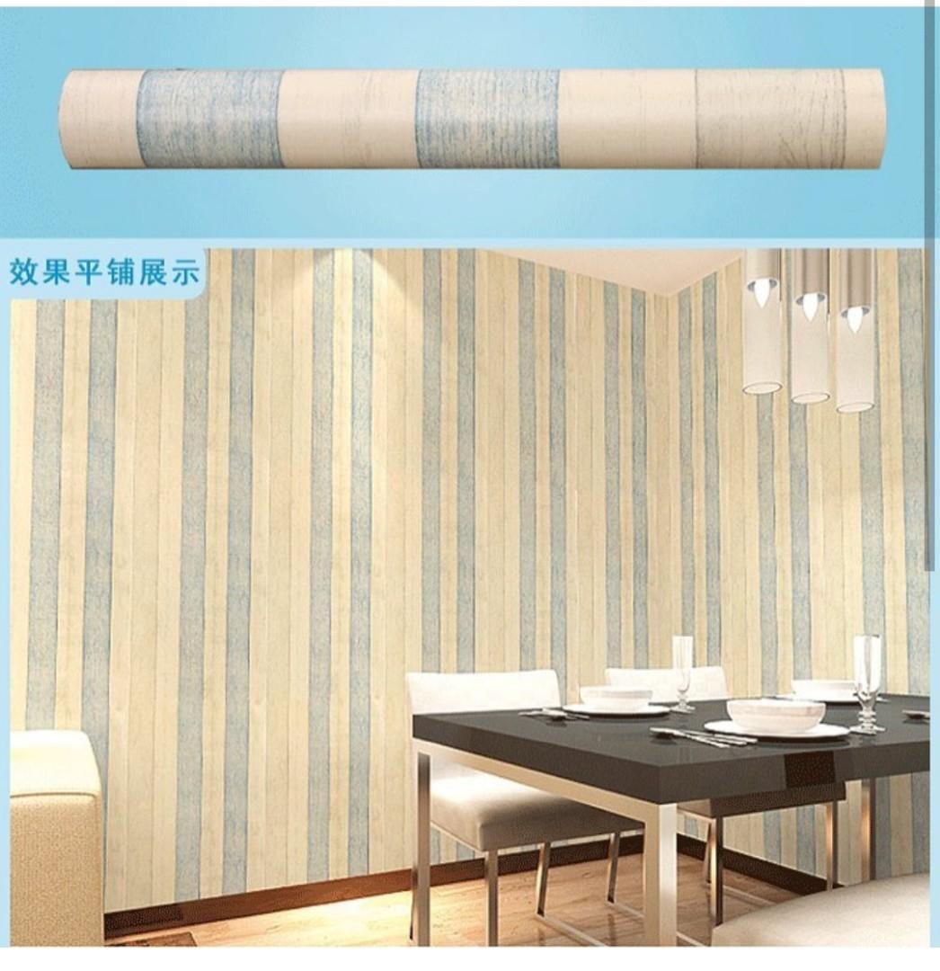 Stiker Dinding Rumah Motif Garis - HD Wallpaper