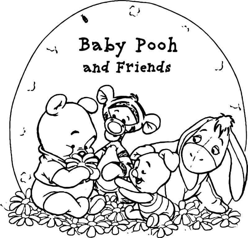 Pooh Wallpaper Baby Pooh And His Friends Coloring Page Eeyore Tigger Winnie The Pooh Baby 800x768 Wallpaper Teahub Io