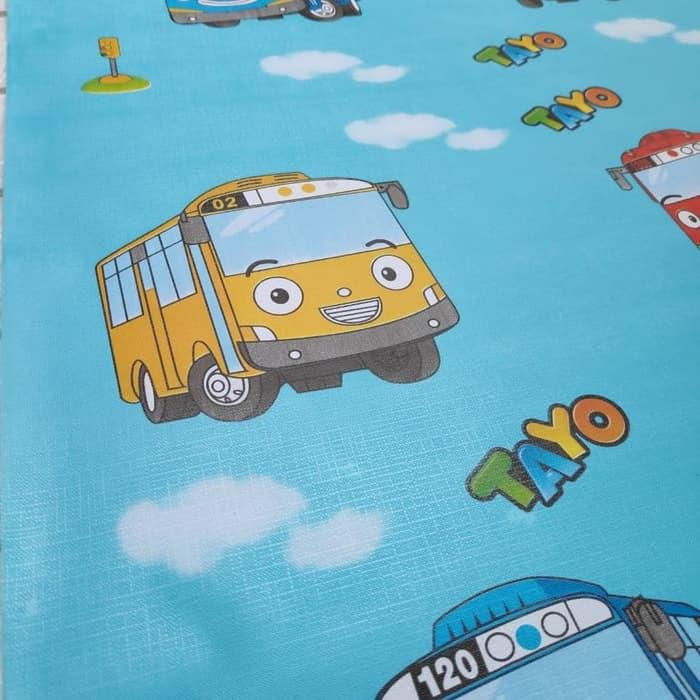 Murah Wallpaper Sticker Dinding Ruang Karakter Kartun - Dinding Karakter Tayo - HD Wallpaper