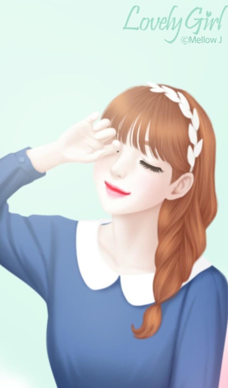 Art, Beauty, And Cartoon Image - Gambar Animasi Lovely Girl - HD Wallpaper