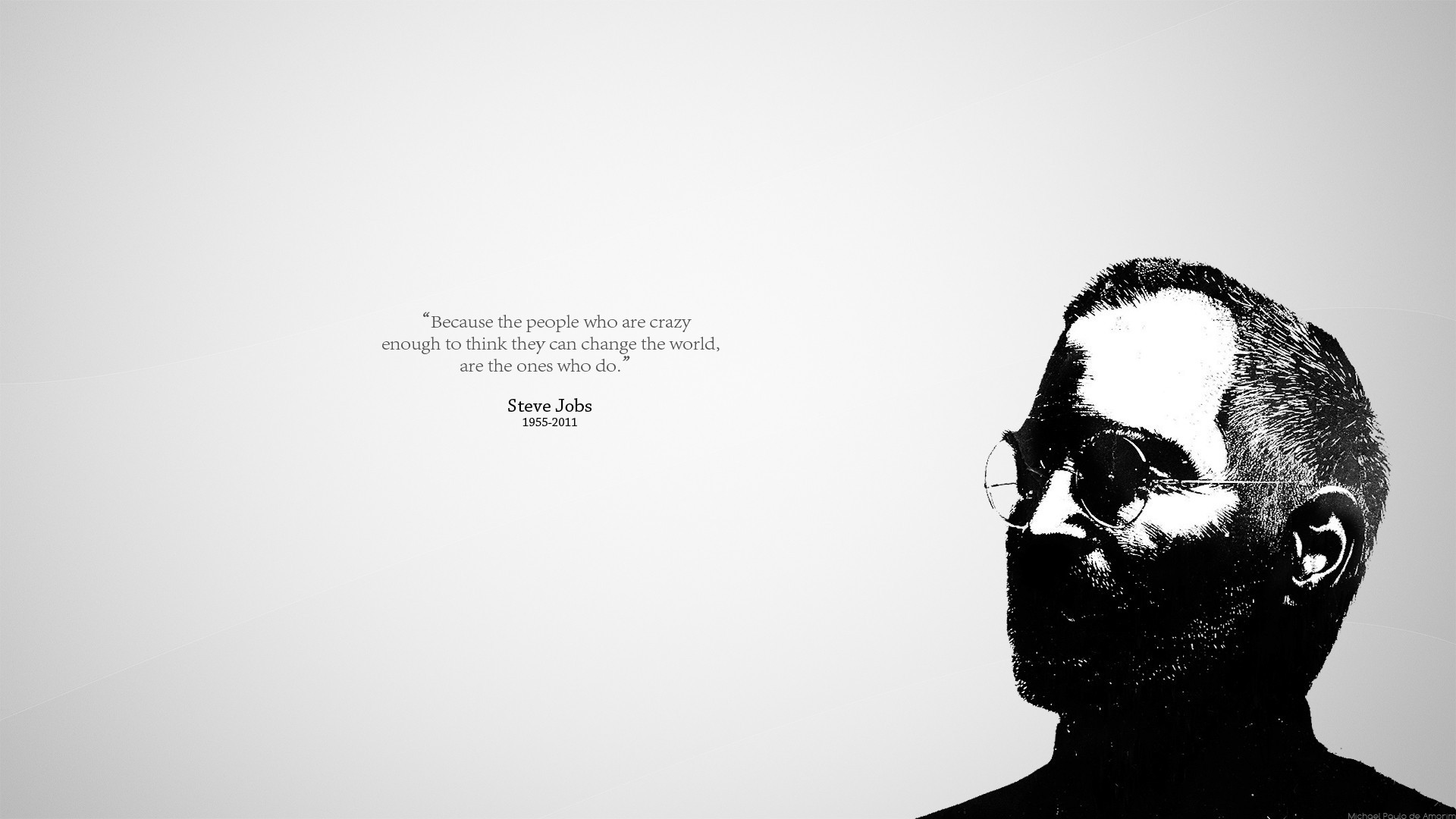1920x1080, Steve Jobs, Quote, Simple Background Wallpapers - Steve Jobs Minimalist Quote - HD Wallpaper