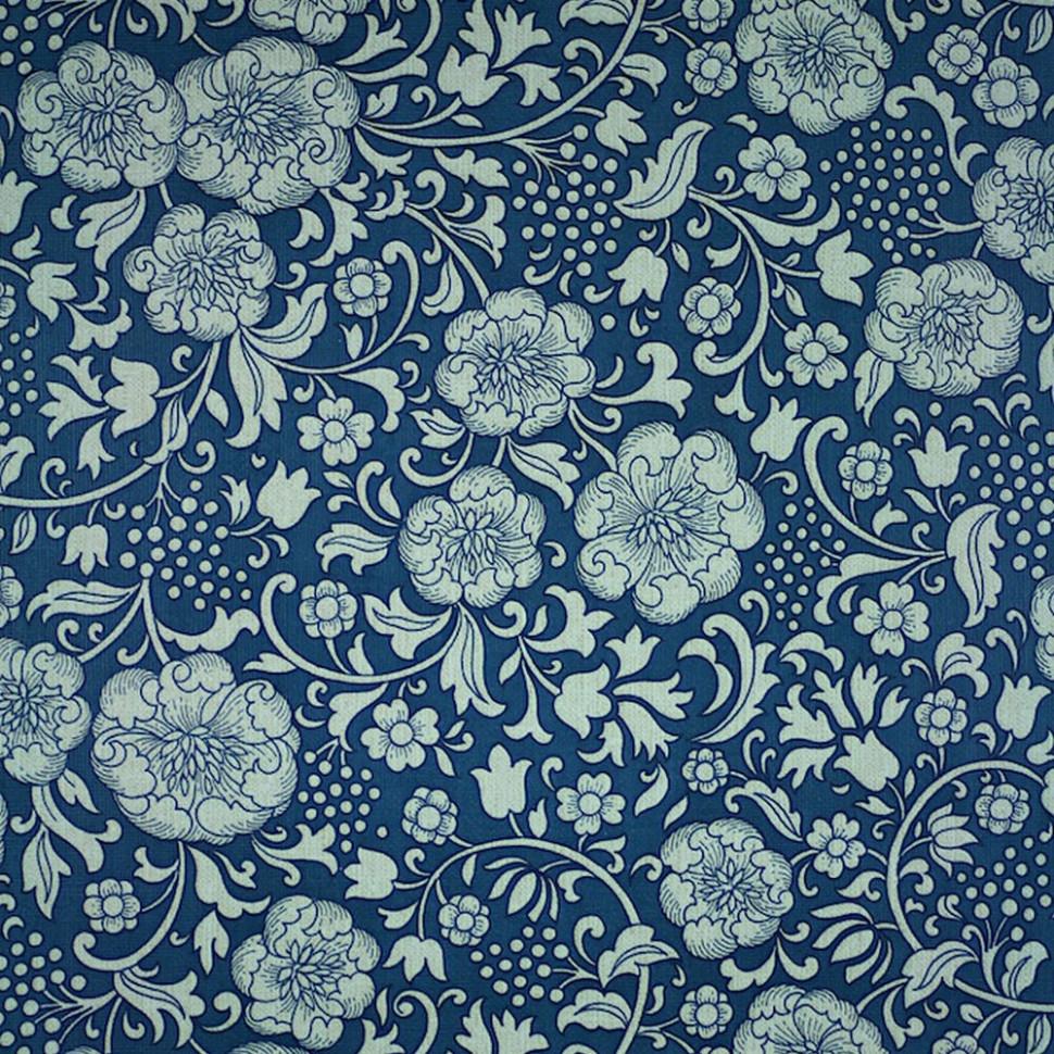 20s 20s Original Blue Floral Wallpaper   Blue Vintage Floral ...