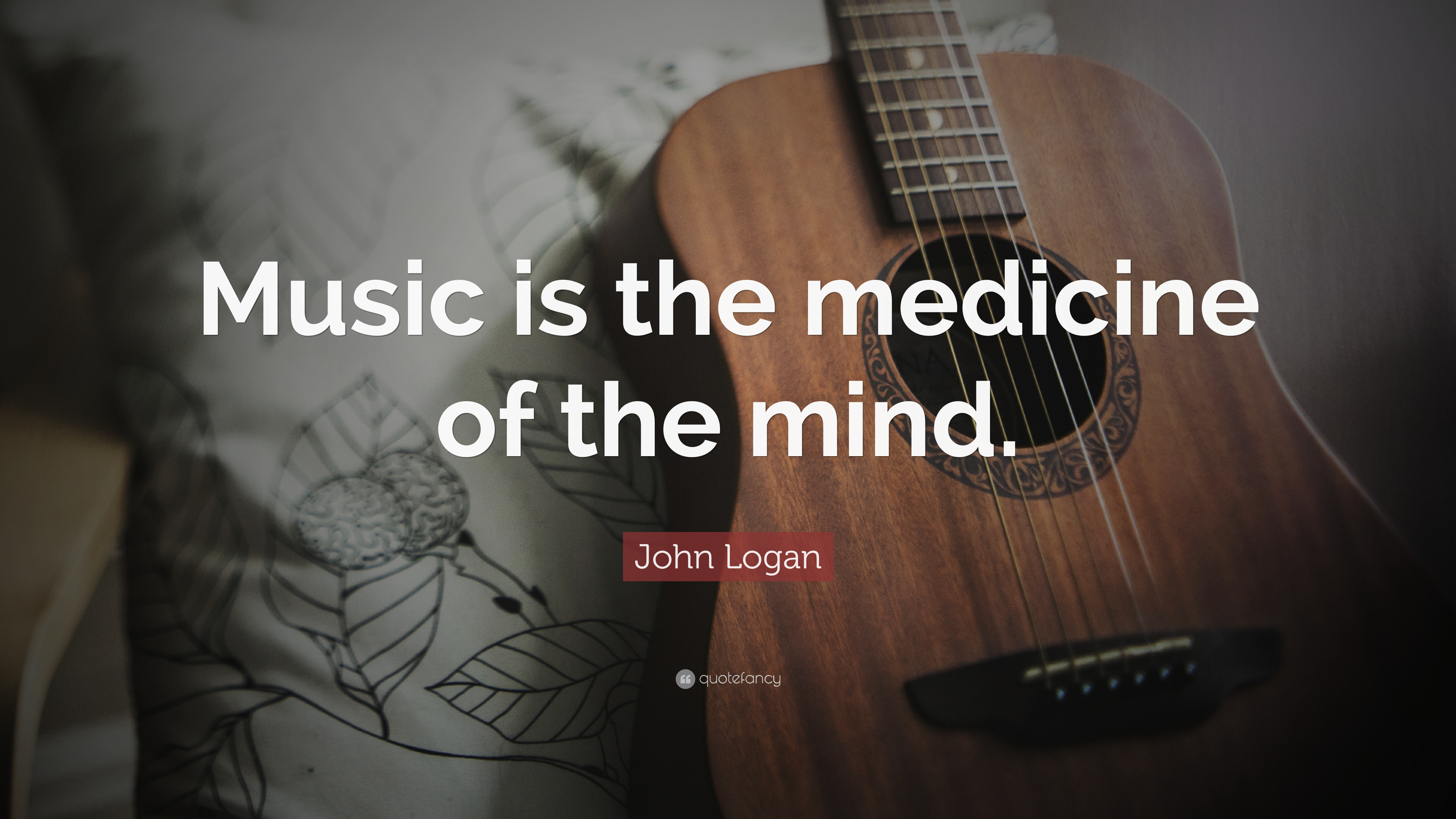 John Logan Quote - Music Quotes With Guitar - HD Wallpaper
