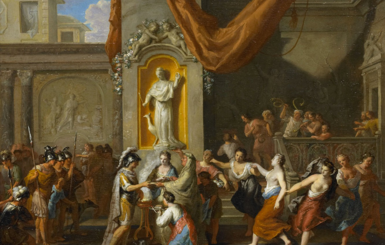 Photo Wallpaper Picture, History, Genre, Gerard Hoet, - Marriage Of Alexander The Great And Roxane - HD Wallpaper