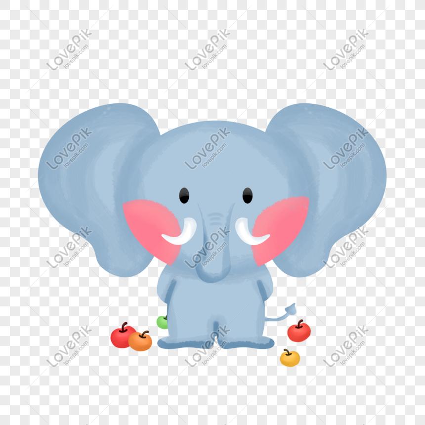 Hari Hewan Dunia Lucu Binatang Lucu Gajah Apel Yang - Gajah Gambar Lucu Binatang Kartun - HD Wallpaper