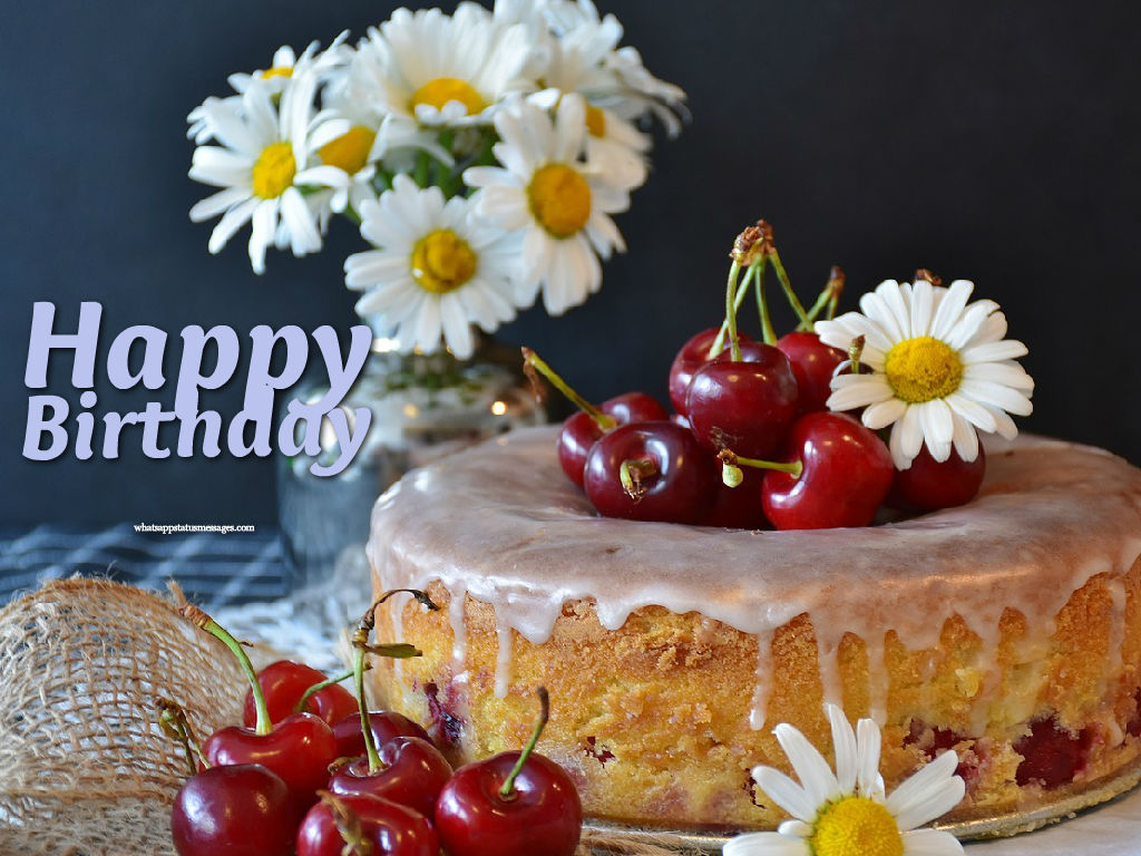 Free Download Happy Birthday Cake Images With Flowers Birthday Wishes Flower And Cake 1024x768 Wallpaper Teahub Io