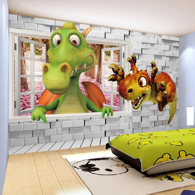 Papier Peint 3d Dinosaure - HD Wallpaper