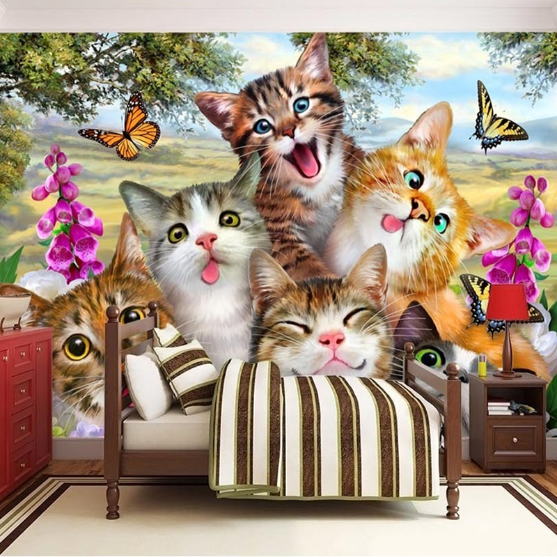 Cat And Butterfly Diamond Painting - HD Wallpaper
