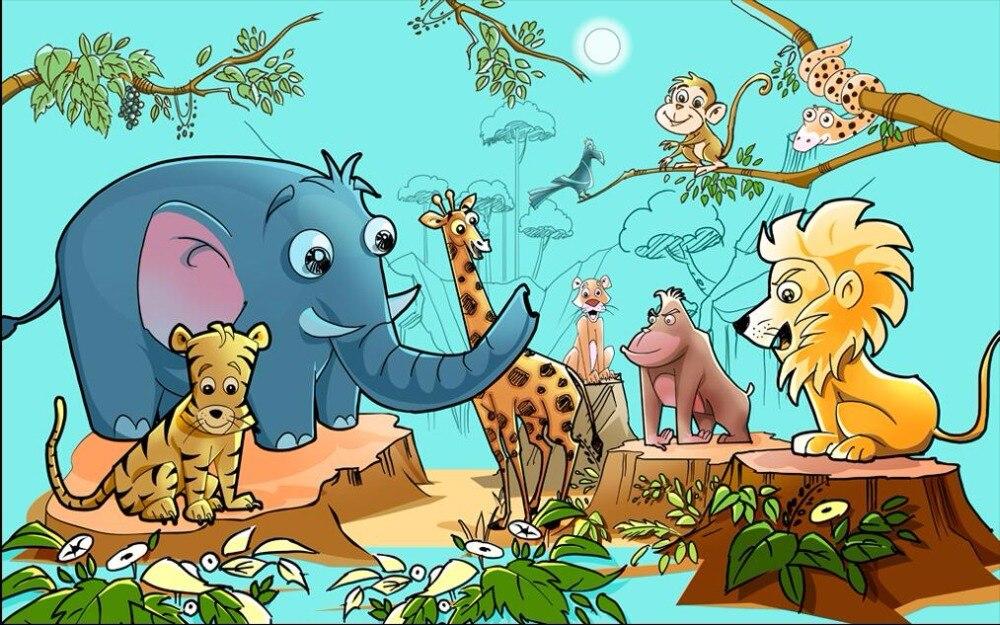Kebun Binatang Kartun - HD Wallpaper