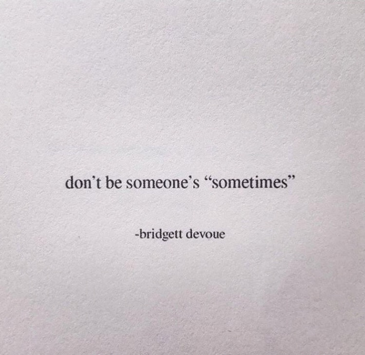 Love, Poetry, Wallpaper - Don T Be Someone's Sometimes - HD Wallpaper