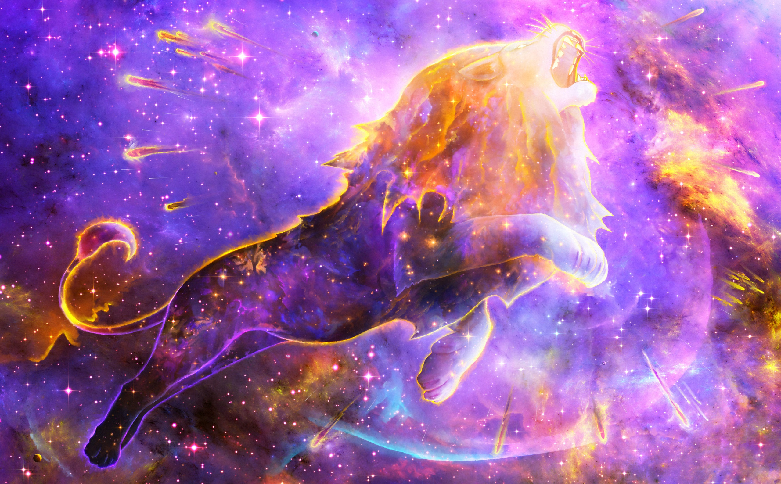 Galaxy Lion - HD Wallpaper