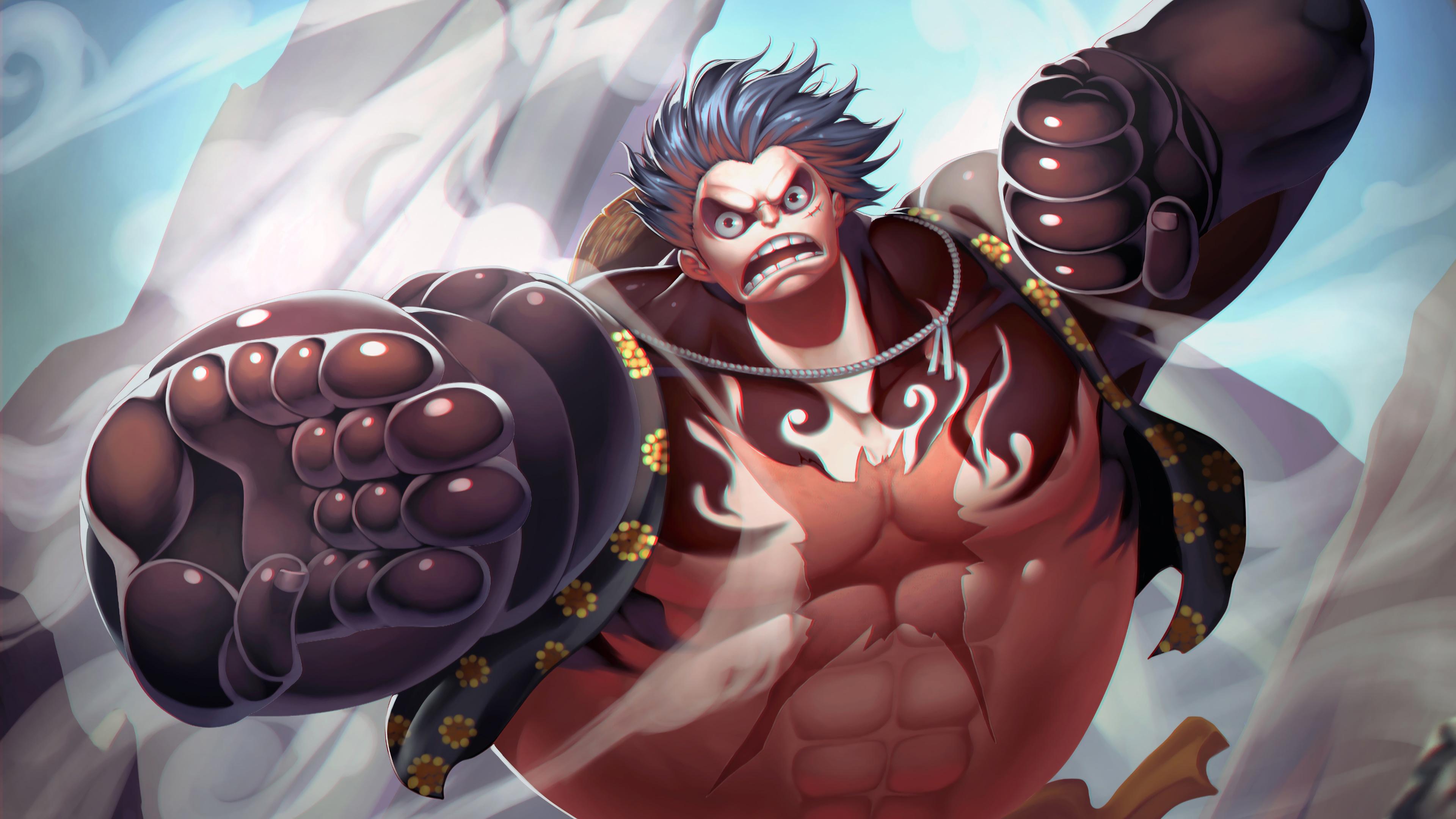 Luffy Gear 4 Boundman 3840x2160 Wallpaper Teahub Io