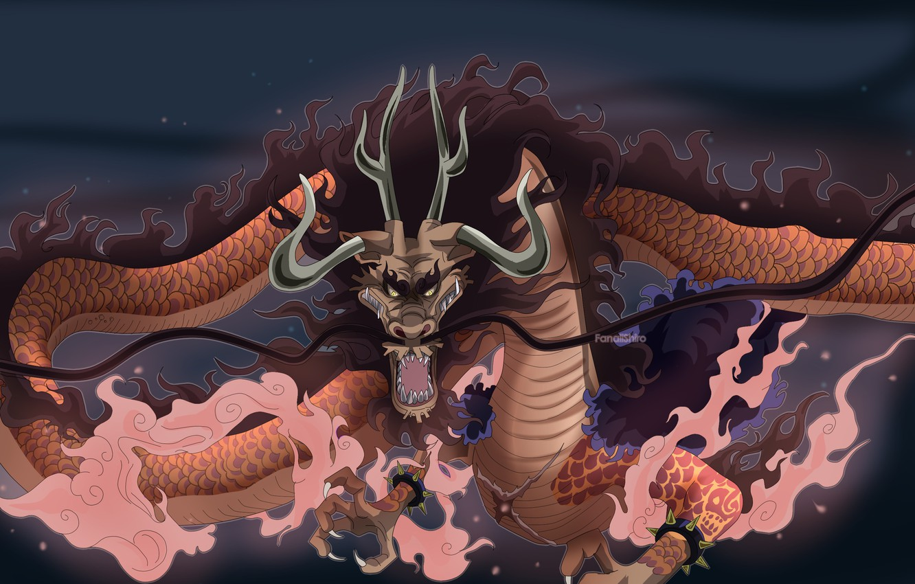 Photo Wallpaper Game, One Piece, Pirate, Anime, Dragon, - One Piece Kaido Dragon - HD Wallpaper