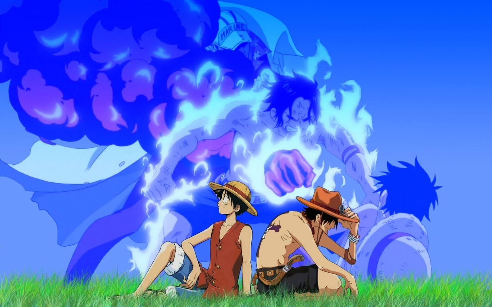 Gambar Lucu Bergerak One Piece Terbaru Display Picture One Piece Wallpaper Luffy And Ace 1600x1000 Wallpaper Teahub Io