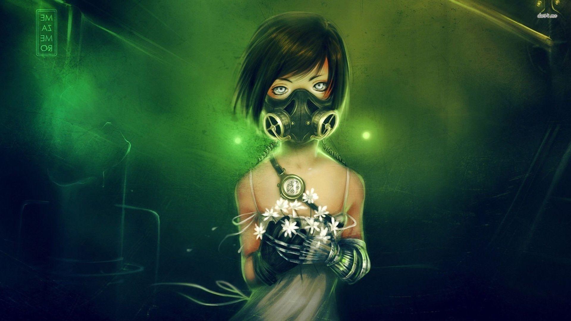1920x1080, Toxic Girl   Data Id 200953   Data Src /walls/full/2/d/f/200953 - Biohazard Anime Girl - HD Wallpaper
