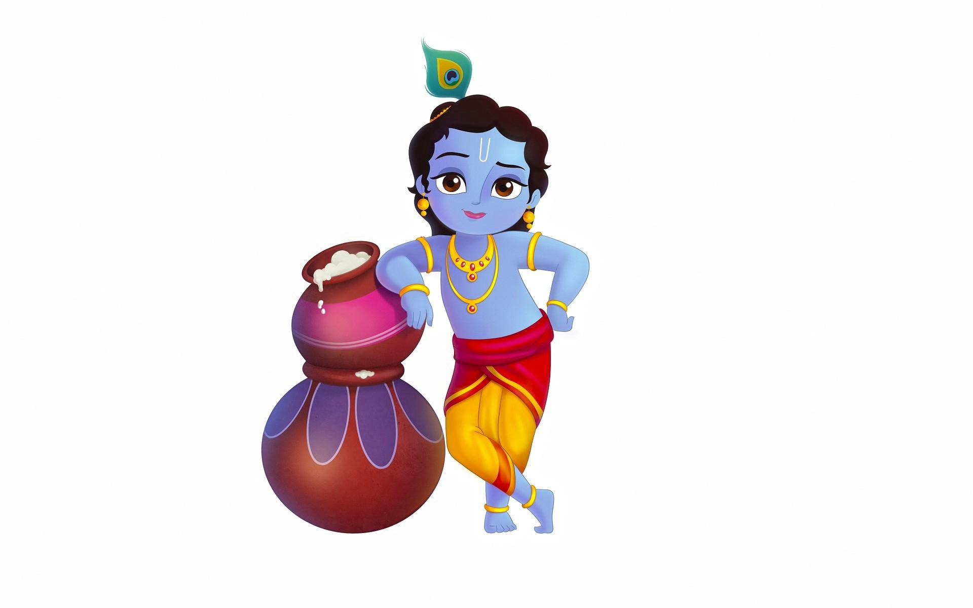Wiki Shree Krishna Animation Wallpaper Pic Wpe0012387 - Shri Krishna Image Cartoon - HD Wallpaper