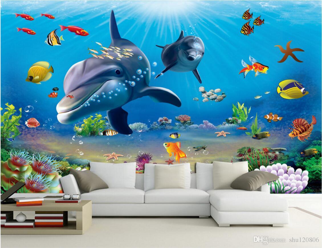 Pemandangan Bawah Laut Kartun - HD Wallpaper