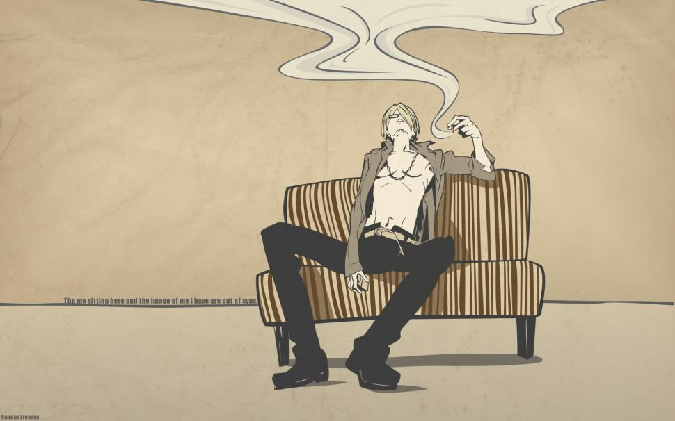 Sanji One Piece Anime Smoking Hd Wallpaper Cartoon Comic Anime Wallpaper Sanji 970x606 Wallpaper Teahub Io