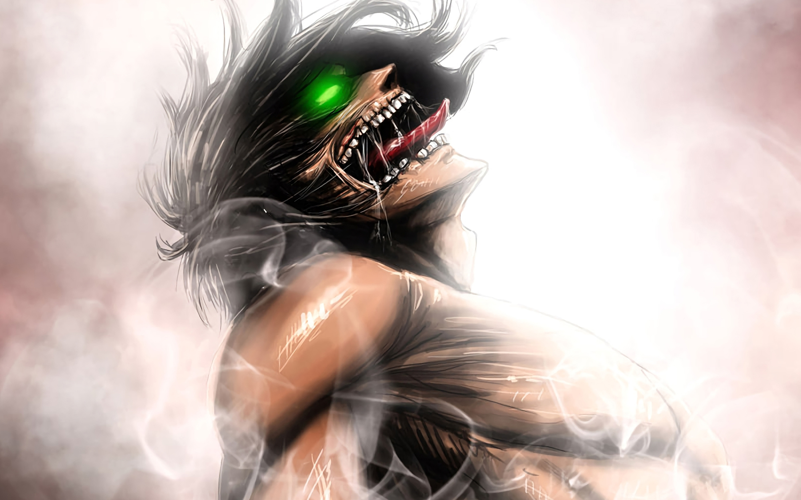 Wallpaper Of Eren Yeager Anime Attack Of Titan Background Attack On Titan Wallpaper Eren Titan 2560x1600 Wallpaper Teahub Io