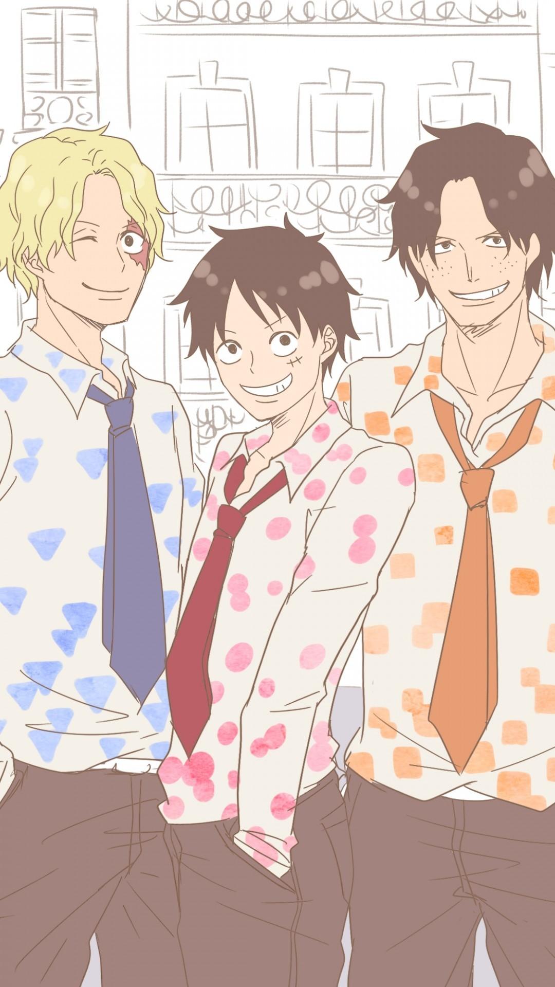 Luffy Zoro Sanji Friends One Piece Cartoon 1080x1920 Wallpaper Teahub Io