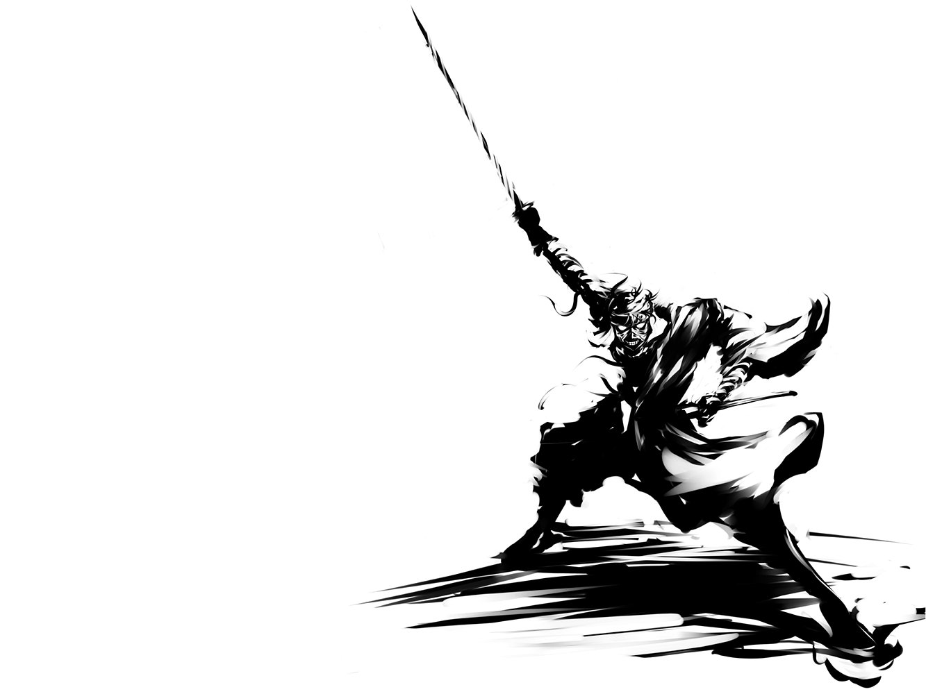 Zoro Wallpaper Black And White 1333x1000 Wallpaper Teahub Io