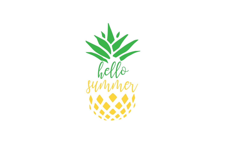 Hello Summer Desktop Wallpaper - Blue Pineapple Clip Art - HD Wallpaper