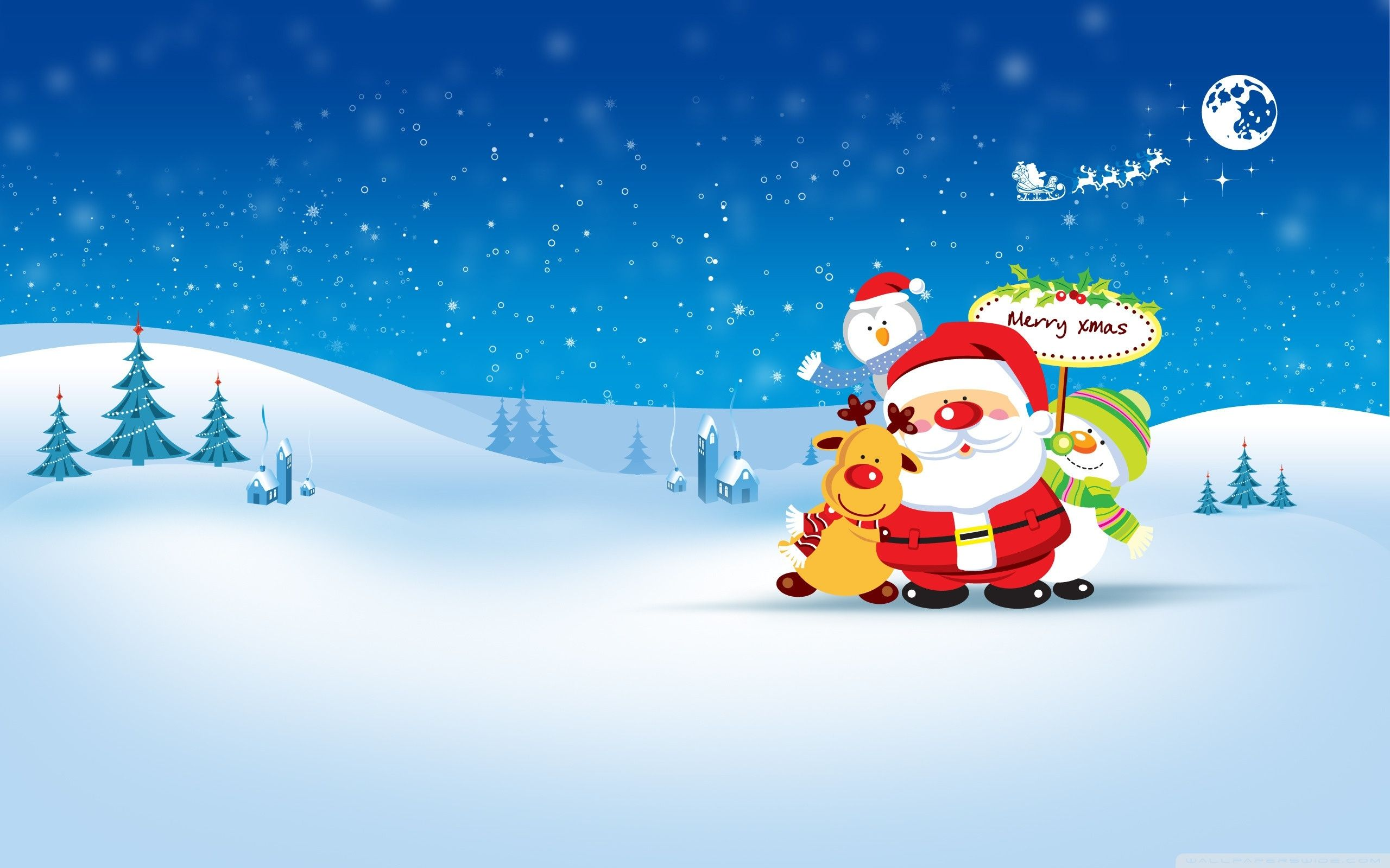 Merry Xmas ❤ 4k Hd Desktop Wallpaper For • Dual Monitor - Cute Christmas Desktop - HD Wallpaper
