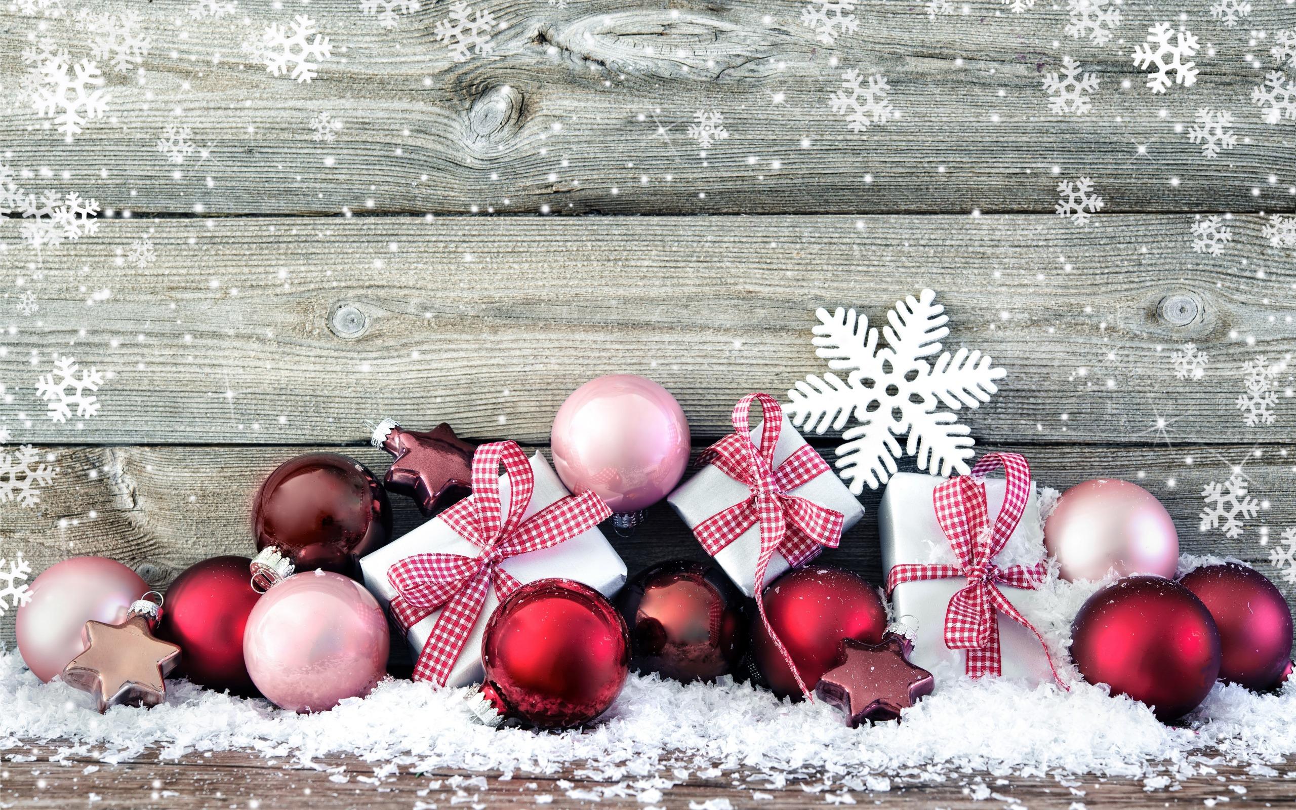Snowy Christmas Desktop Background - HD Wallpaper