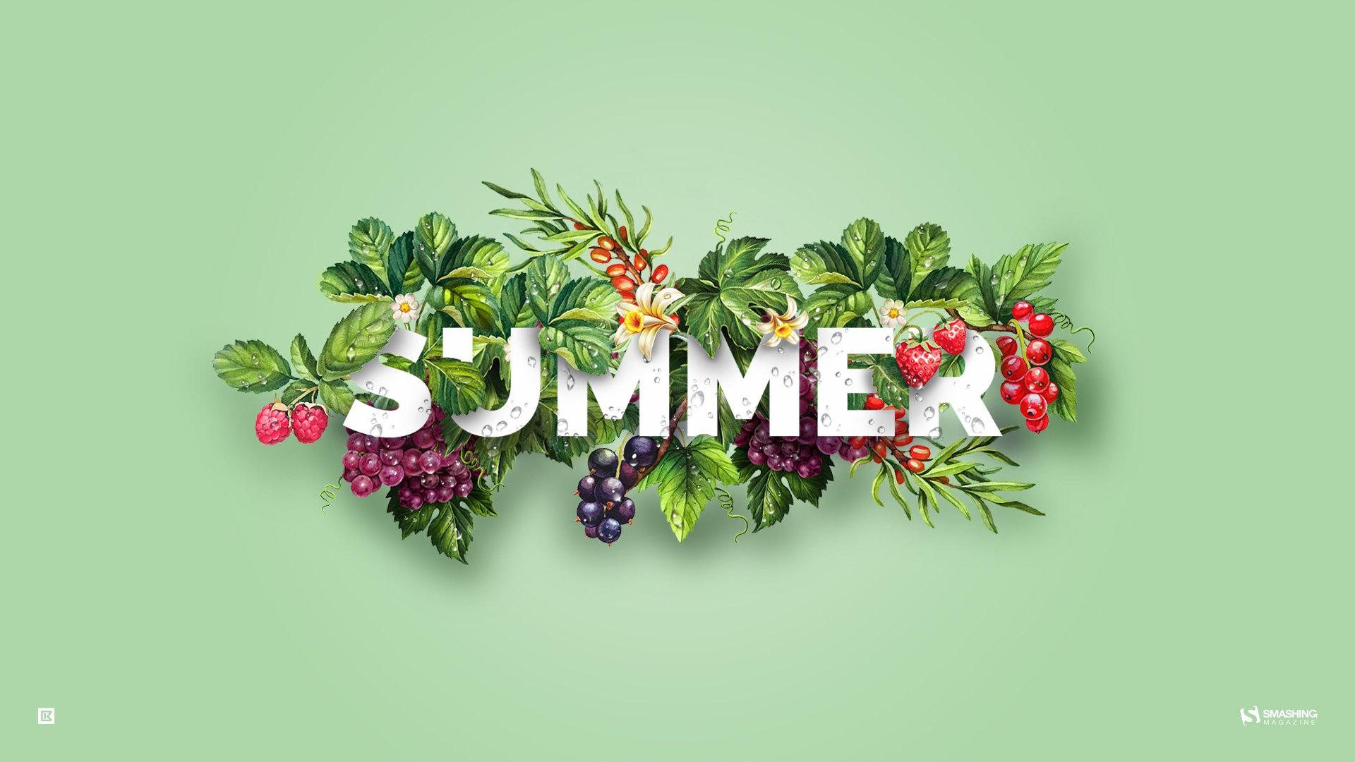 Summer Computer Backgrounds - Summer Fruit Facebook Cover - HD Wallpaper