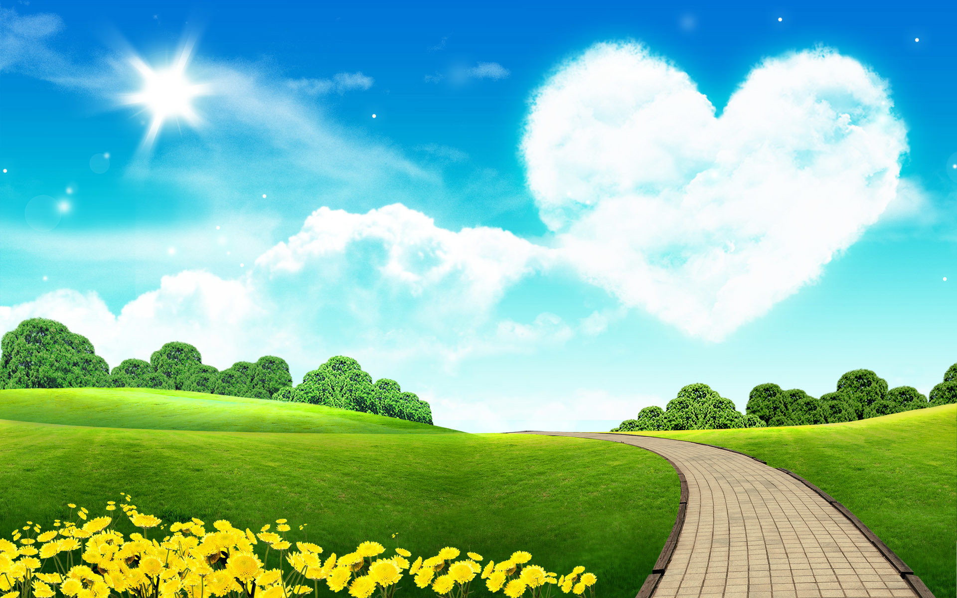 Hd Quality Nature And Landscape Wallpapers Free Download - Lovely Sky - HD Wallpaper