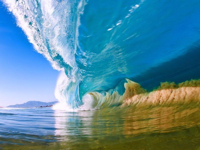 Natural Summer Ocean Wave Desktop Hd Wallpaper - Wave Desktop - HD Wallpaper