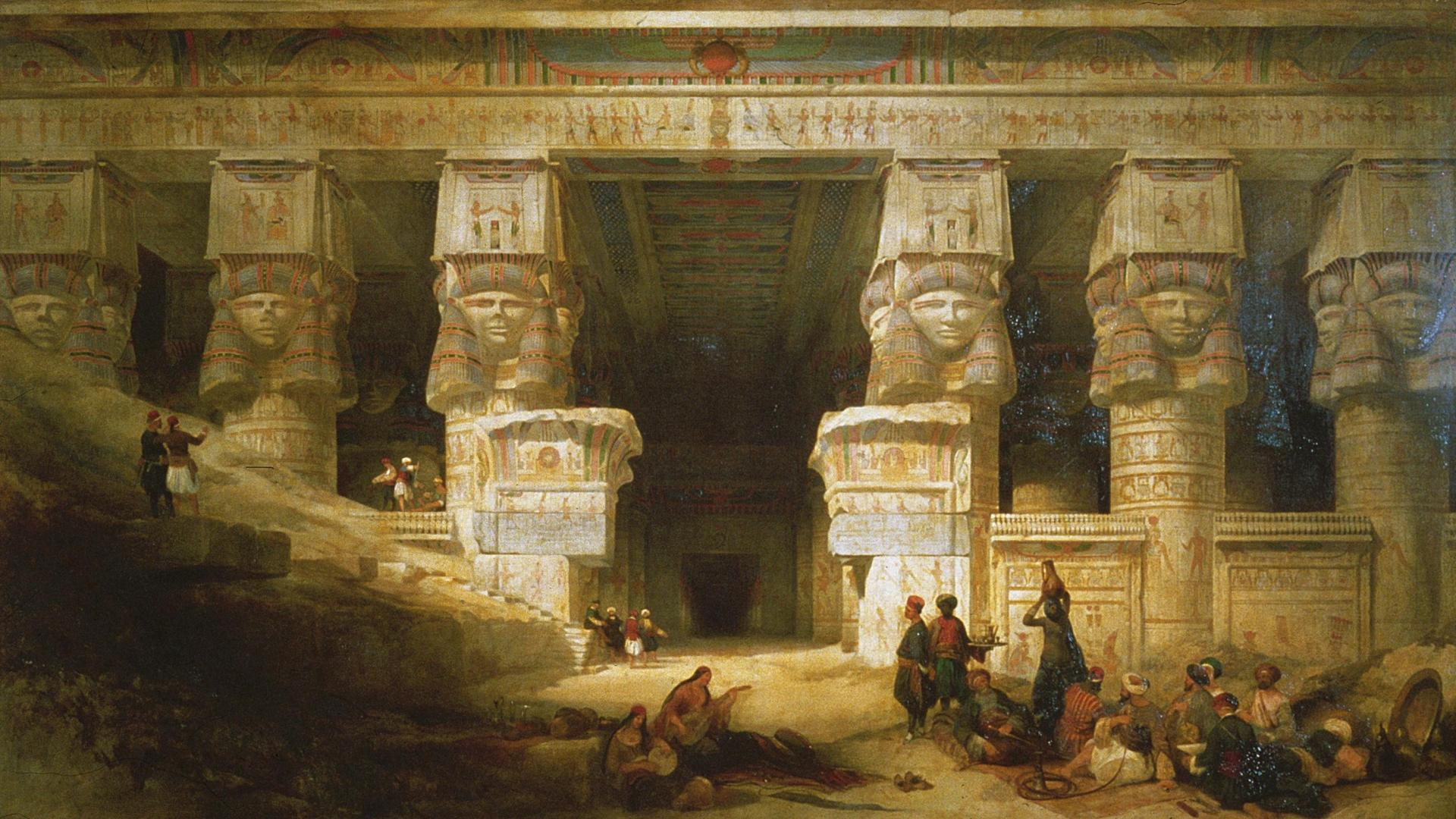 Paintings Classic Art Wallpaper - Temple Of Dendera David Roberts - HD Wallpaper