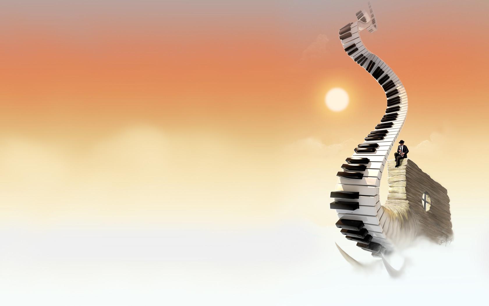 Piano In The Sky 1680x1050 Wallpaper Teahub Io