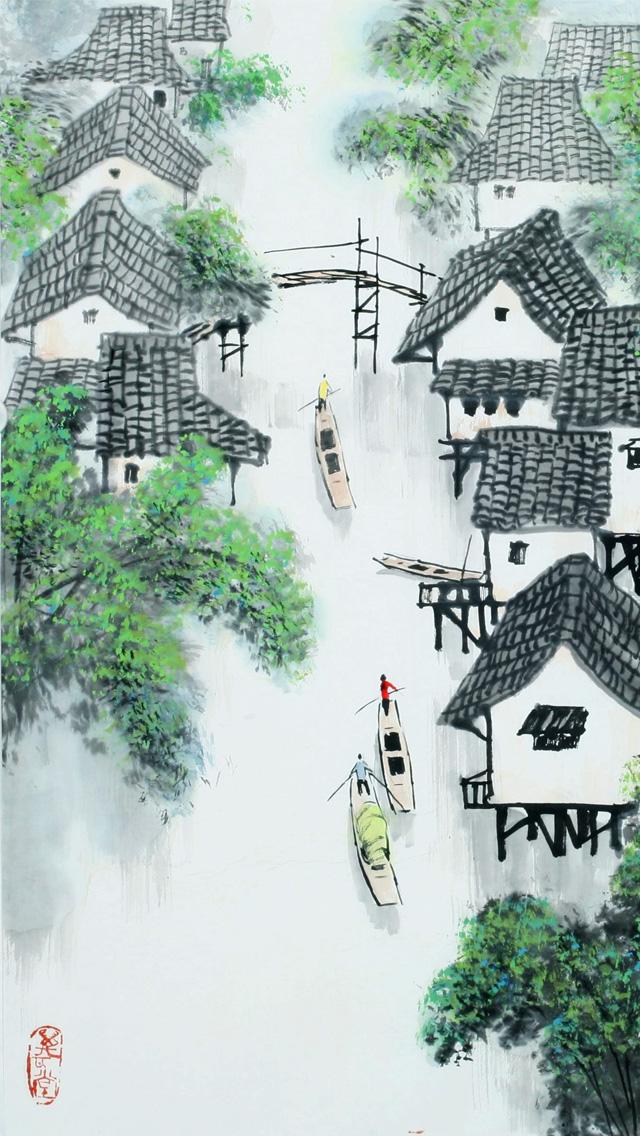 Chinese Art Wallpaper Phone 640x1136 Wallpaper Teahub Io
