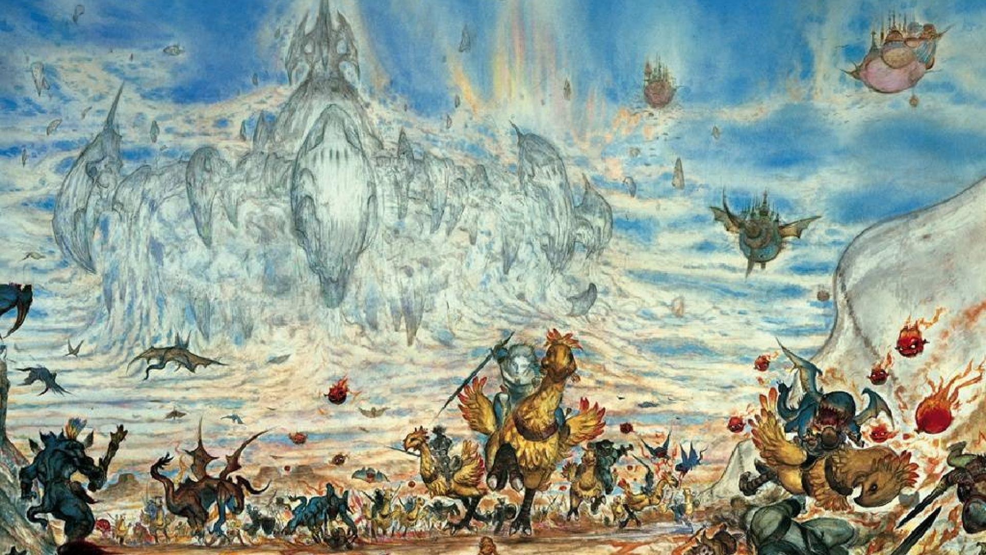 1920x1080, Amano1 Amano Ff Pictures Anyone Wallpaper - Final Fantasy Art Yoshitaka Amano - HD Wallpaper