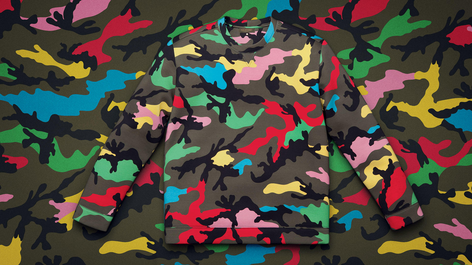 Multi Color Camo Pattern - HD Wallpaper