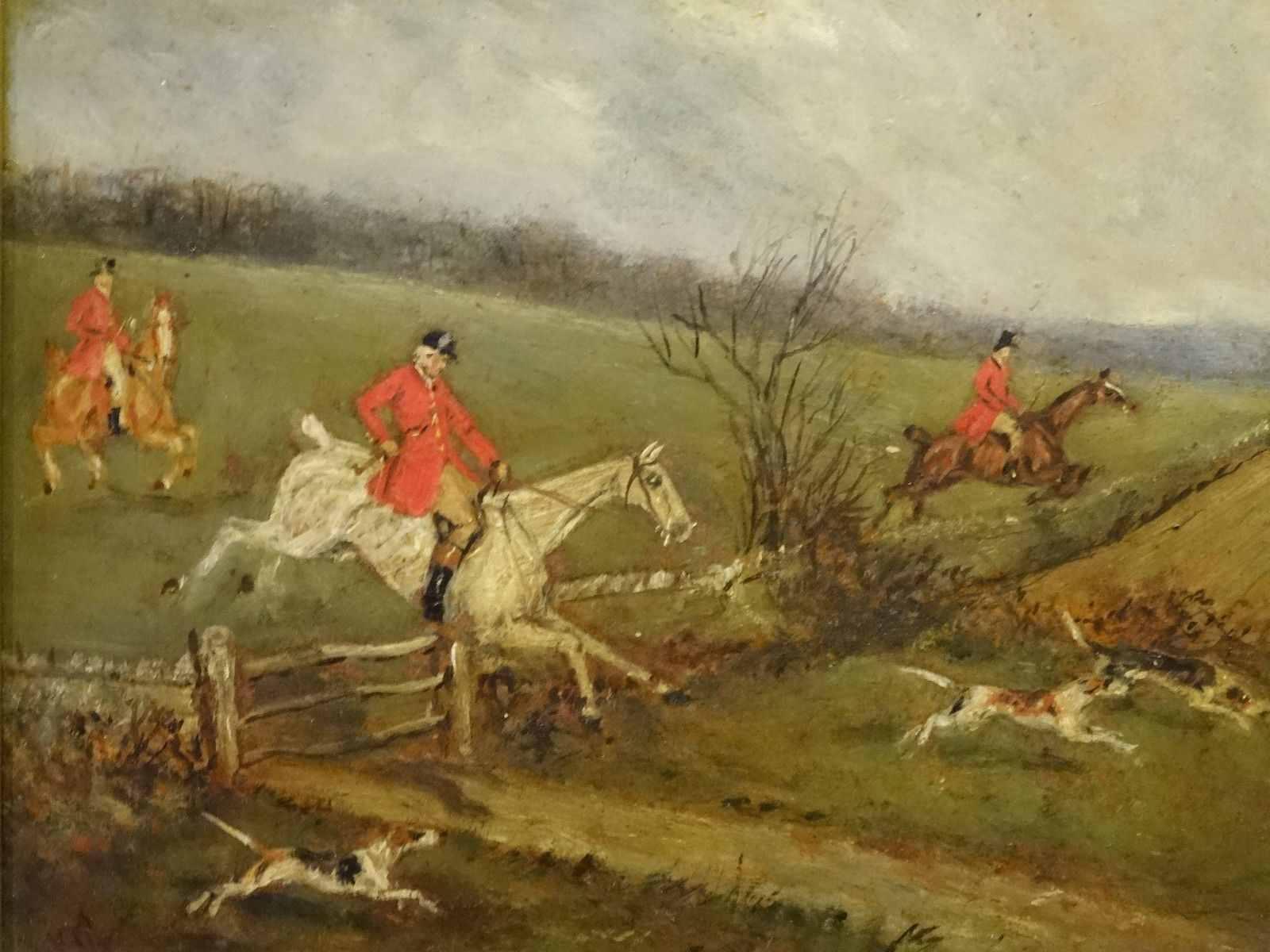 19th Century Original Sporting Equestrian Fox Hunting - Painting - HD Wallpaper