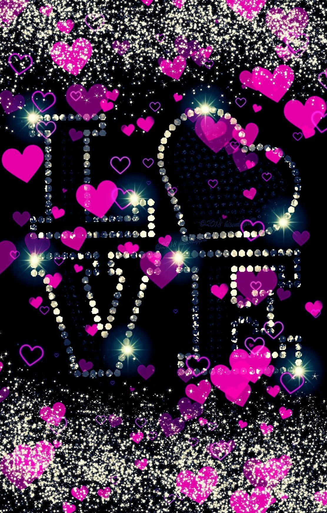 150 1503449 glitter wallpaper love pink
