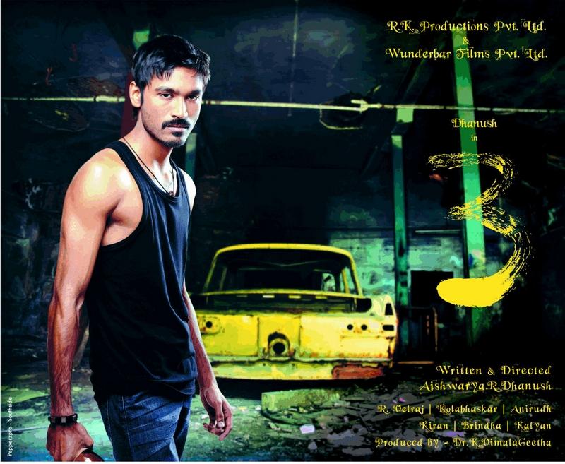 Dhanush 3 Movie Posters - HD Wallpaper