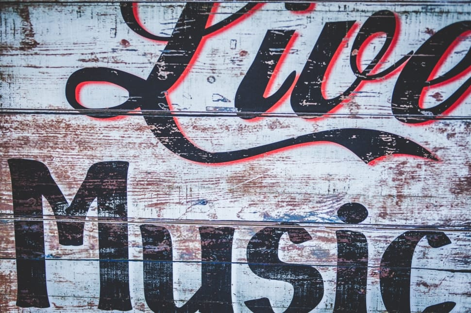 White Red And Black Live Music Quote Preview - Live Music Images Free - HD Wallpaper