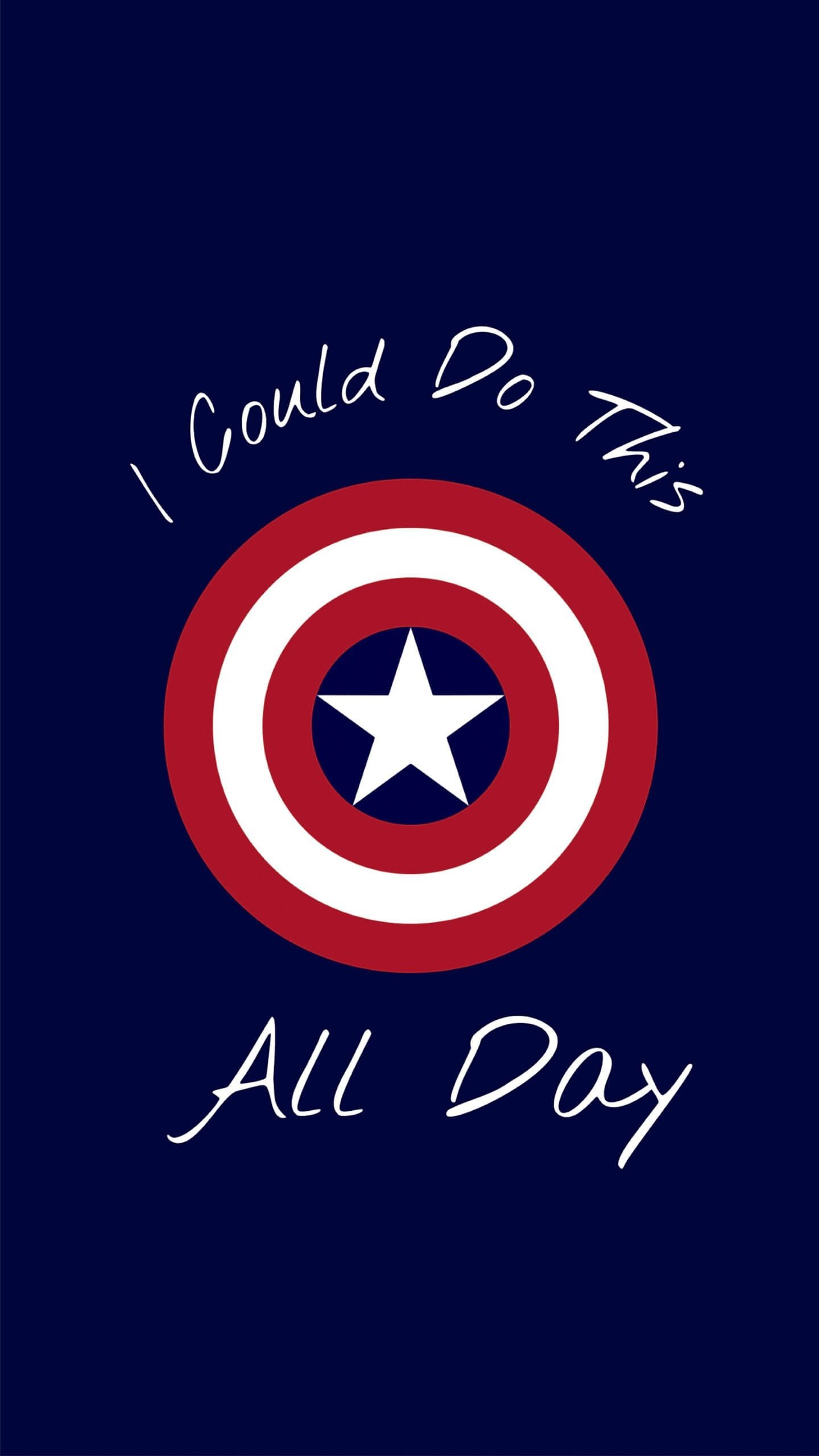 Captain America Best Quote Iphone Wallpaper   Data - Quotes I Can Do This All Day Captain America - HD Wallpaper