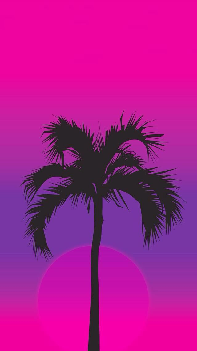 Purple Palm Tree Wallpaper Iphone - HD Wallpaper