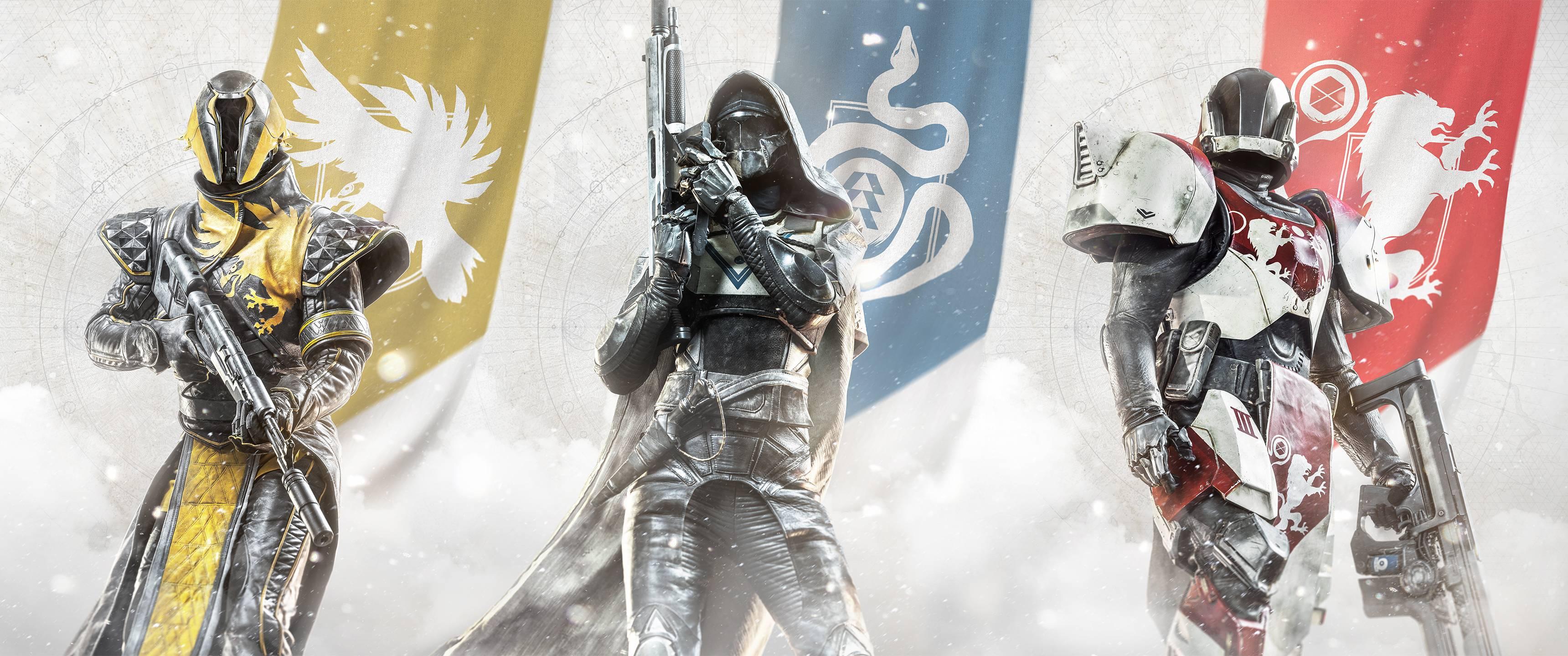 Destiny 2 Warlock Hunter And Titan 3440x1440 Wallpaper Teahub Io