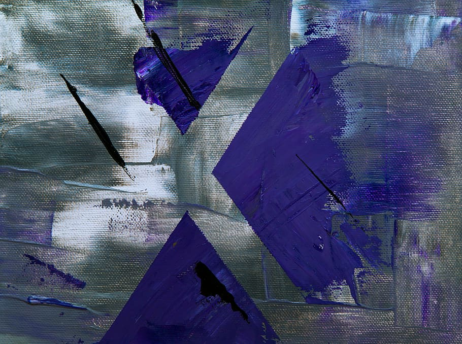 Blue And Grey Paint Brush Stroke, Abstract, Abstract - Wallpaper - HD Wallpaper