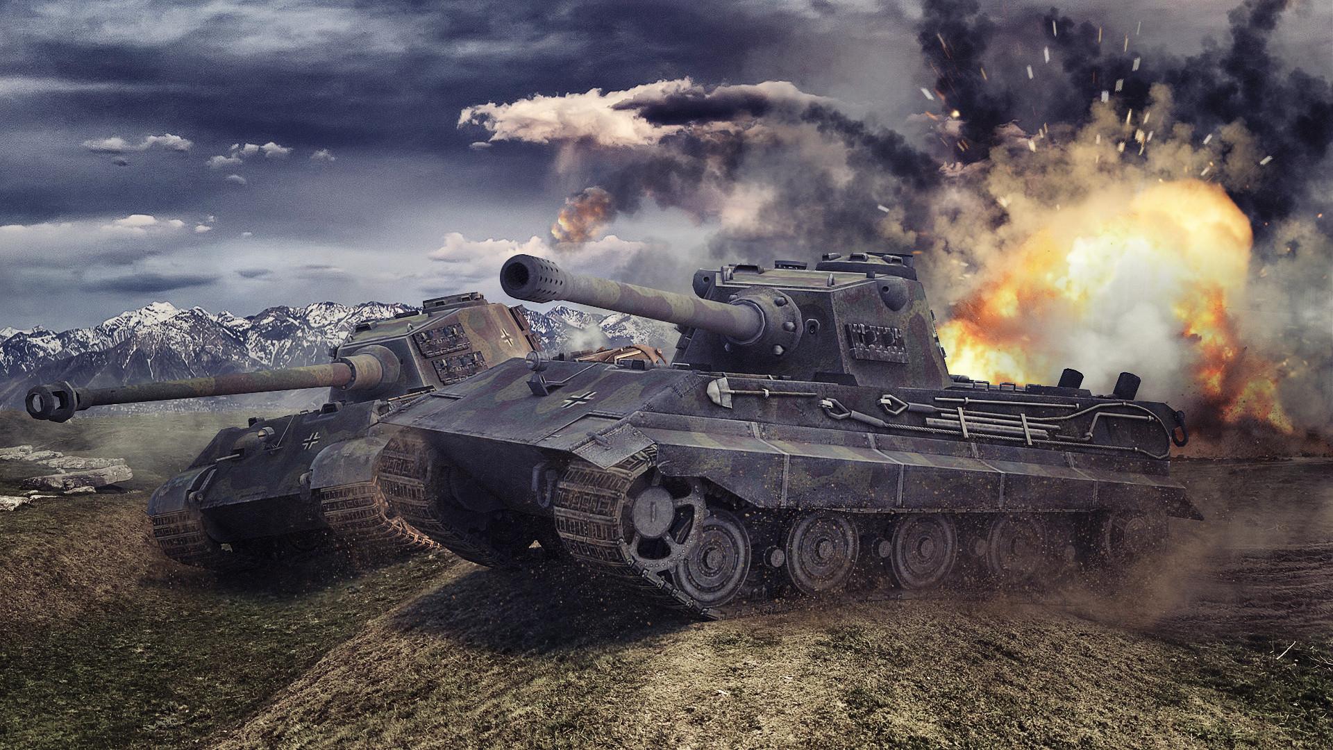 World Of Tanks Tanks Tiger Ii Wallpaper Hd Wallpaper - World Of Tanks Wallpaper German - HD Wallpaper