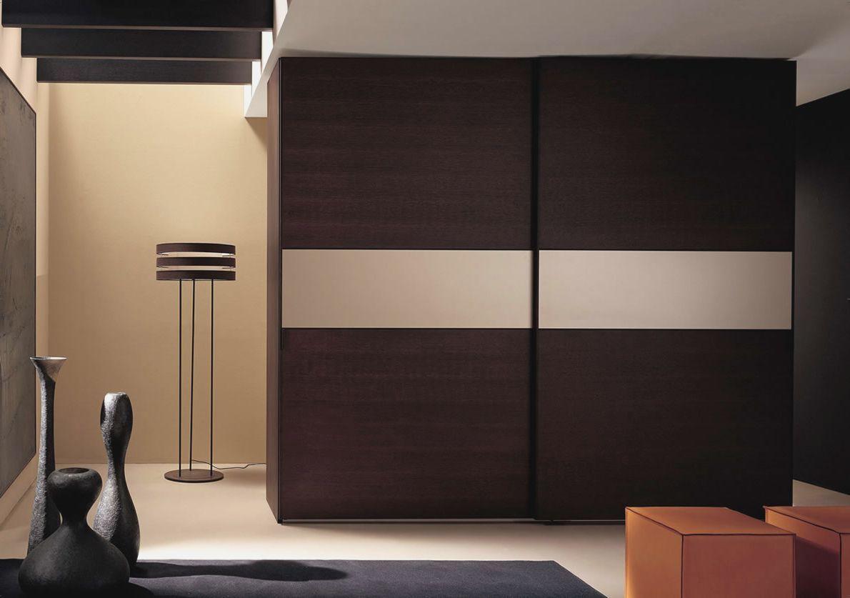 Bedroom Sliding Wardrobe Design - HD Wallpaper
