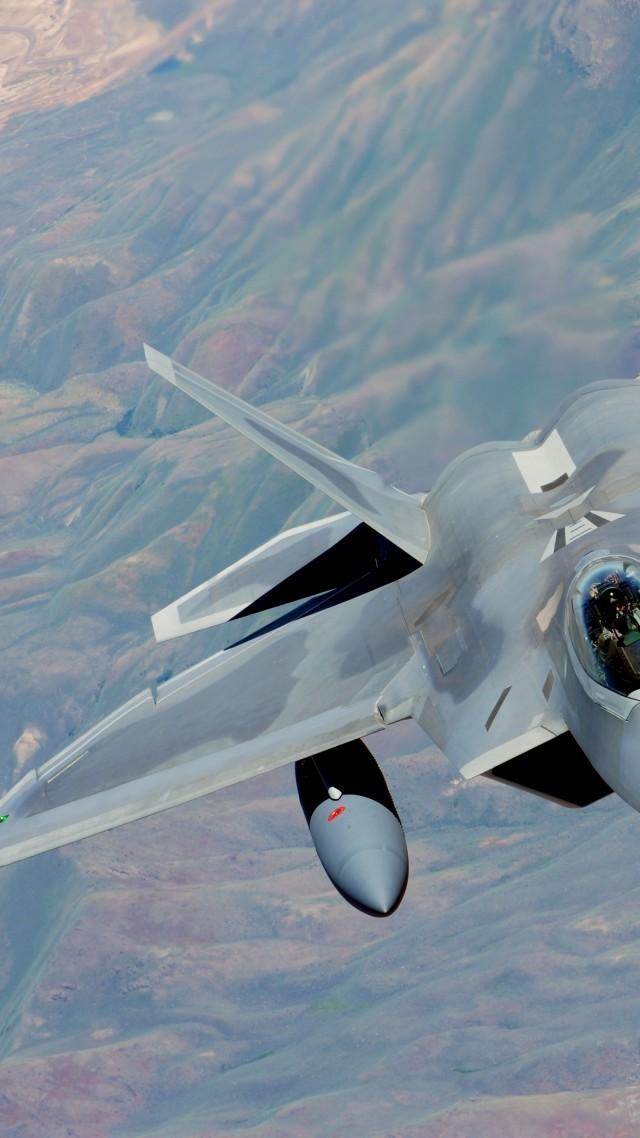 F 22 Raptor Lockheed Martin Stealth Air Superiority F 22 640x1138 Wallpaper Teahub Io
